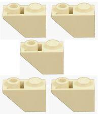 Missing Lego Brick 3665 Tan x 5 Slope Brick 45 2 x 1 Inverted