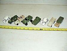 Lot Of 8 Old Vintage Hot Wheels Army Vehicles Truck Tank Gun Bucket Half track