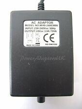 3 AMP/3000MA 24 VOLT 72VA AC/AC POWER ADAPTOR/SUPPLY/CHARGER/TRANSFORMER SOCKET