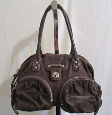Botkier Bianca Dark Brown Lambskin Leather Silver Hardware Satchel Handbag