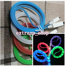 LED Light Micro USB Charger Data Sync Cable for Samsung Galaxy S4 HTC Android xp