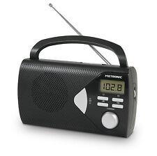 Radio tuner numérique FM portable noire - Metronic 477205