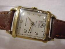 Vintage GOLD FD large antique Art Deco WITTNAUER CURVEX mens watch