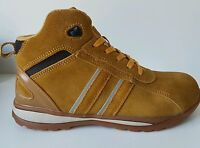 MENS Sand honey STEEL TOE CAP SAFETY ANKLE BOOT  TRAINER SHOES WORK SIZE UK 13