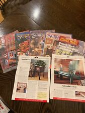 Vintage scroll saw woodworking patterns (lot)
