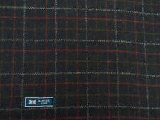 100% Lana Tweed Tela, Mezcla Azul Marino Con Diseño De Cuadros Multi-hecho En Inglaterra