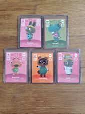 Five Never Scanned Animal Crossing Amiibo Card in Sleeve and Top Loader