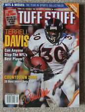 TUFF STUFF MAGAZINE FEB 1999 w/ TERRELL DAVIS ON COVER DENVER BRONCOS SUPER BOWL