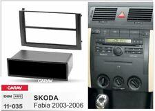 1 DIN Radio Blende Einbau Rahmen mit Ablagefach  passt SKODA Fabia 6Y 2003-2006