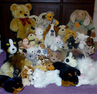 Soft Plush Toys Bulldog Ginger Cat Westie Bunny Lamb Elephant Giraffe Spaniel...