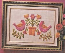 """""""BIRDS & BLOSSOMS"""" - Crewel Embroidery Kit by vintage AVON - Sz 9 x 12 in"""