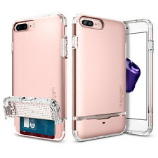 Apple iPhone 7 Plus Spigen Flip Armor Card Slot Wallet Case TPU Shockproof Cover