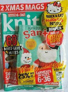 Knit Now! Magazine #109 Snuggly Santa Xmas Kit, Hello Kitty Knitting Patterns