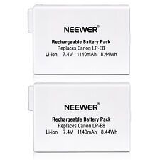 Neewer Rechargheable Battery For Canon LP-E8 EOS 550D 600D 650D 700D