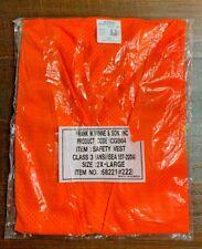 2x Large Blaze Orange Stripe Reflective Material Mesh Work Safety Vest Class 3