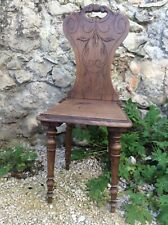 French Mountain Chair Chalet Walnut Tyrolean Swiss Antique Brettstuhl Wood