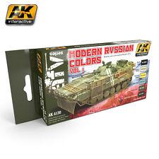 AK Interactive AK4130 Modern Russian Armour Colors Volume 1 - 6 x 17ml Paint Set