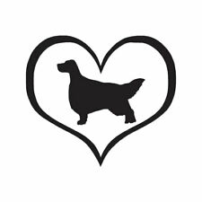 Love English Setter Dog Heart - Decal - Multiple Color & Sizes - ebn1454