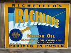 RICHFIELD+RICHLUBE+MOTOR+OIL++1930%27s+STYLE+PORCELAIN+SIGN+GAS+OIL