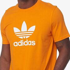 BNEW ADIDAS Bright Orange Trefoil Tee Mens Shirt, XL only