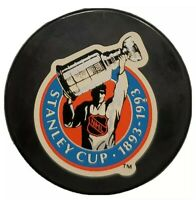 1893-1993 100-YEARS STANLEY CUP NHL OFFICIAL GAME PUCK JOHN A. ZIEGLER INGLASCO