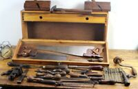 Vintage Tool Box with Carpenters Tools  [ 6315 ]
