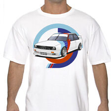 Classic Bmw M3 E30 graphic T Shirt White or Gray S to 3XL Racing Rally Drifting