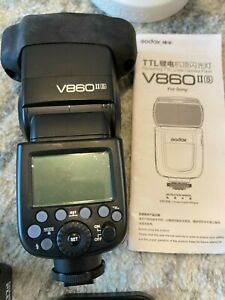 Godox V860II-S 2.4G TTL Flash Speedlite + 2 Extra Batteries + Extras!