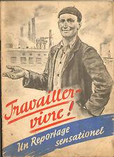 GUERRE 39/45 BROCHURE TRAVAIL EN ALLEMAGNE STO 1941 ?