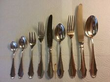 Grann & Laglye ART NOUVEAU Silver - Christiansborg - 135 pcs hammered Flatware