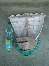 grande applique ceramique GALION design 50/60 bateau stylisé marque a determiner
