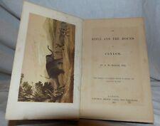 Livre sur la chasse 19 ème Rifle and Houd in Ceylon 1854