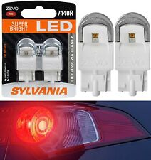 Sylvania ZEVO LED Light 7440 Red Two Bulbs Stop Brake Tail Replace Upgrade Lamp