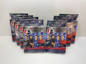 ⚽️ LOT OF 7 2021 Official NWSL Premiere Edition Trading Cards Hanger Box
