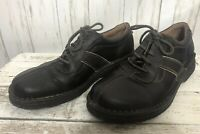 Clark's Unstructured Lace-Up Oxfords Men's Size 10.5 M Brown Leather Shoes