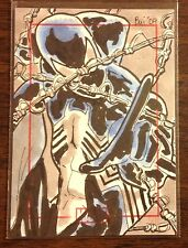 Spiderman Black Costume Marvel 70th Anniversary color sketch card 1/1 Thanh Bui