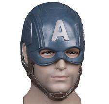 CAPTAIN AMERICA STEVE ROGERS LATEX MASK HALLOWEEN COSPLAY FANCY DRESS PROPS