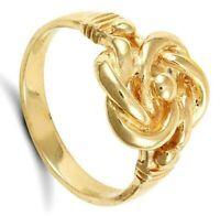 Herren Knoten Ring Massiv 9 Karat Gelbgold Gekennzeichnet Britische Herstellung