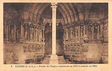 BF6977 candes porche de l eglise commencee france       France