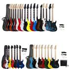Black White Full Size Electric Guitar Bag and Accessories Pack Beginner Colorful