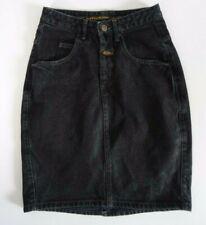 Marithe Francois Girbaud Vintage Denim Skirt Black size 3/4