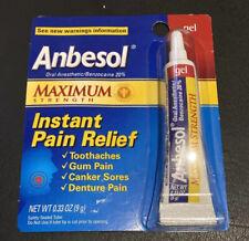 Anbesol Maximum Strength Instant Pain Relief GEL 0.33 oz