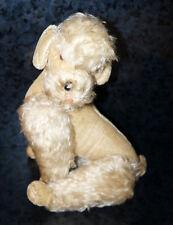 "14"" Antique STEIFF MOHAIR DOG Poodle Schnauzer GERMANY Button Plush Doll Vintage"