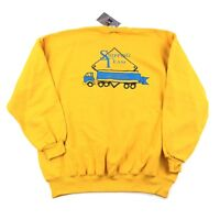VTG 90s Crew Neck Sweatshirt 2XL 18 Wheeler Truck Graphic Russell New With Tags