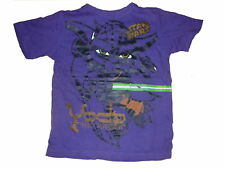 H & M tolles T-Shirt Gr. 116 / 122 lila mit Star Wars Motiv !!
