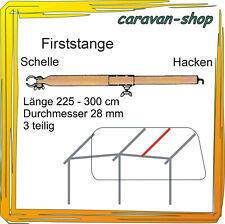 Dachhakenstange 28 mm 225-300cm Firststange Zeltstangen Vorzelt Wohnwagen Zelt