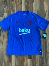 Nike FC Barcelona Fussball Trainingsshirt | Blau | Größe XL | Neu