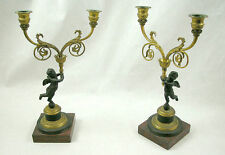 Bronze 1800-1849 Antique Candle Holders