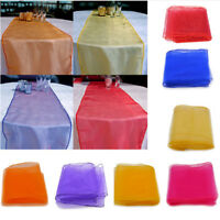 30 x 275cm Sheer Organza Table Runner Chair Cover Sashes Bow Wedding Party Decor