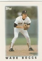 FREE SHIPPING-MINT-1986 Topps Mini Baseball Card #3 Wade Boggs Boston Red Sox